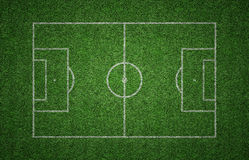 Тангаж футбола травы Стоковое Фото