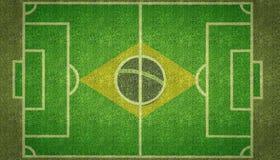 Тангаж футбола футбола Бразилии Стоковое Изображение