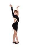 Танго танцев маленькой девочки Стоковые Изображения