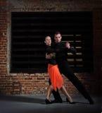 танго танцоров действия Стоковые Изображения RF