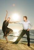 танго танцы пар Стоковая Фотография RF
