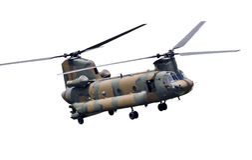 Тандемный вертолет ротора Стоковое Фото