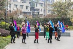 Танец более старых женщин квадратный Стоковое Изображение RF