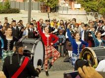 Танец во время выставки труб Стоковые Фото