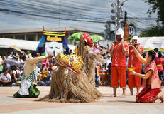 Танец выставки Лаоса маски Стоковое фото RF