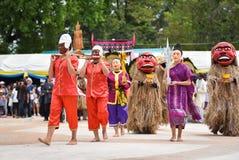 Танец выставки Лаоса маски Стоковые Изображения