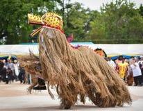 Танец выставки Лаоса маски Стоковая Фотография