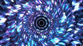 Танец голубого и пурпурного иллюстрация вектора