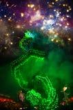 Танец дракона выполнил для лунного торжества Нового Года Стоковое Изображение