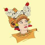 Танец женщины балийский Стоковое Изображение