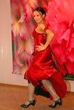 Танец Кармен номер танца национального танца экзотический в стиле испанского языка выполнил танцорами ансамбля латино-американски Стоковые Фотографии RF