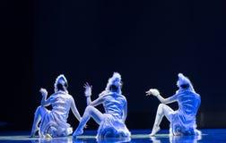 Танец кота девушк-современный Стоковые Изображения