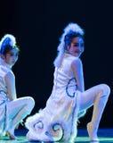 Танец кота девушк-современный Стоковое Изображение RF