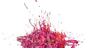 Танец красок на белой предпосылке Имитация 3d брызгает чернил на музыкальном дикторе ту музыку игры красивейше Стоковое фото RF
