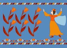 Танец крымское татарского Стоковое фото RF