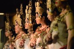 Танец кхмера Стоковая Фотография
