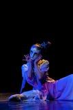 Танец маски--Китайский народный танец Стоковое Изображение RF
