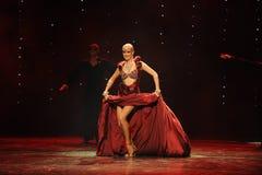 Танец мира Австрии памятей- плать-Индии красного цвета вина Стоковые Изображения