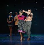 Танец мира Австрии танца- качания Hippie-ретро Стоковое фото RF