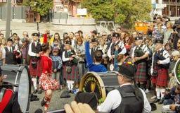 Танец на выставке труб Стоковое Изображение