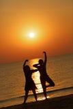 Танец на зоре Стоковые Фотографии RF