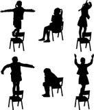 Танец на стуле иллюстрация вектора