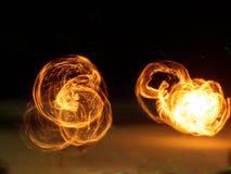 Танец огня Стоковые Изображения RF