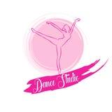 Танец логотипа Стоковое Изображение