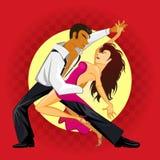 Танец сальсы Стоковые Фото