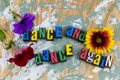 Танец снова танцуя музыка эмоции стоковое изображение rf