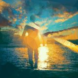 Танец солнца Стоковая Фотография
