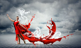 Танец с страстью Стоковое Фото