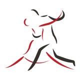 Танец танго Стоковая Фотография