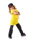 Танец: Танцор хмеля маленькой девочки тазобедренный стоковое изображение rf