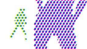 Танец точки польки иллюстрация вектора