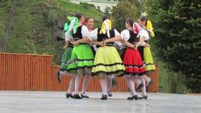 Танец фольклора словака Стоковые Фотографии RF