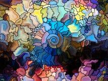 Танец цветного стекла Стоковые Изображения RF