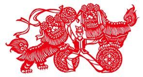 Танец льва стоковые изображения rf