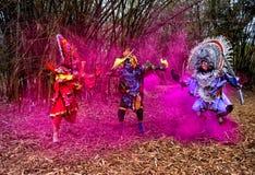 Танец Chhau Индии стоковые фотографии rf