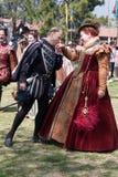 Танец Faire ренессанса стоковые фото