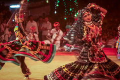 Танец Kalbelia племенной Стоковая Фотография