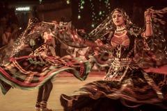Танец Kalbelia племенной Стоковые Изображения