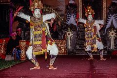 Танец Ramayana в Ubud, Бали, Индонезии стоковое изображение rf