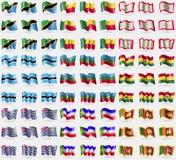 Танзания, Бенин, Сикким, Ботсвана, KarachayCherkessia, Британская территория в Индкйском океане Ганы, Khakassia, Шри-Ланка Большо Стоковые Изображения