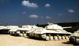 Танки в музее танкового корпуса Ла-Shiryon Yad на Latrun Стоковые Изображения