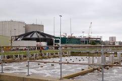Танки газировки и резервуары для газа, работы нечистот Стоковое Изображение RF
