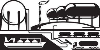 Танки на терминале нефтепровода Стоковая Фотография RF