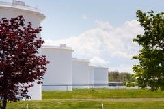 Танки нефтехранилища в Sarnia Онтарио Стоковое Изображение RF
