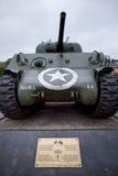 Танк армии США постучал вниз во время сражения для того чтобы защитить Bastogne, Бельгию Стоковые Изображения RF