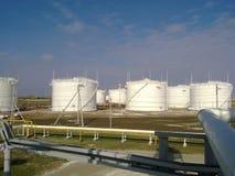 Танк вертикальная сталь Емкости для хранения нефтяных продуктов стоковое фото